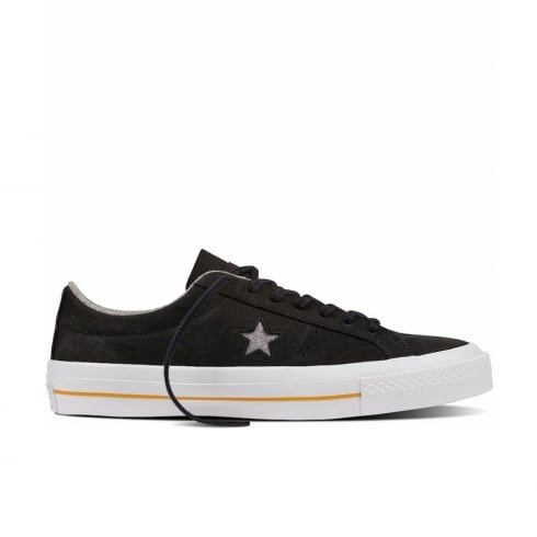 Converse CONS One Star Leather Low Top Trainers - Grey - 153717C
