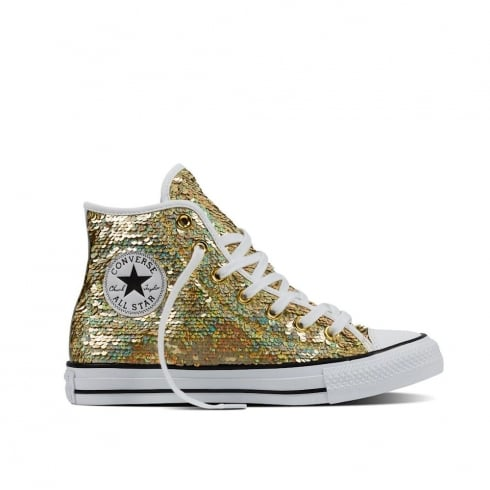 Converse Chuck Taylor Womens All Star Holiday Party Sneakers -Gold- 553439C