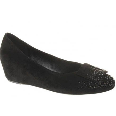 Hogl Womens Velvet Wedge Black -2-104292-01000