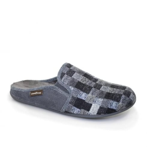 Lunar Goodyear Men's Leeds Slippers - Black/Grey - KMG017
