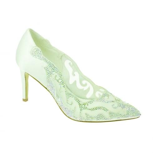 Lunar Womens Arkle Evening Court Shoe - White - FLR403