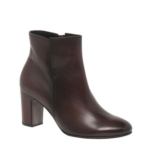 Gabor Becca Ladies Modern Ankle Boots - Brown - 55.880.24