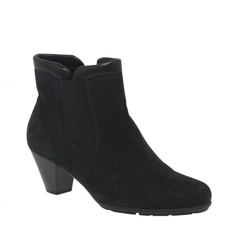Gabor Paige Ladies Modern Ankle Boots - Black - 55.642.17