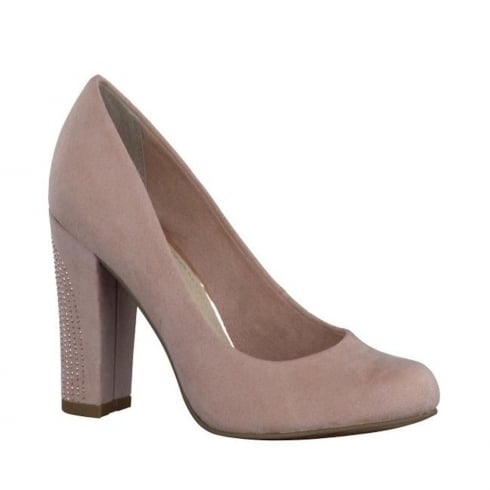 Marco Tozzi Court Block High Heels - Rose