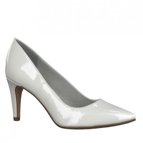 Tamaris Womens Patent Pointed Heels - White - 22447-28 123
