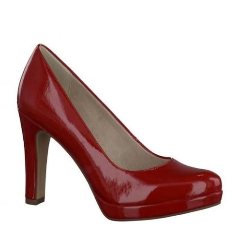 Tamaris Womens Patent Court Heels - Chili - 22426-28 520