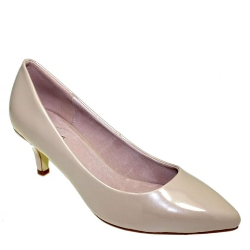 Lunar Parker Low Heel Court - Beige Pearlised