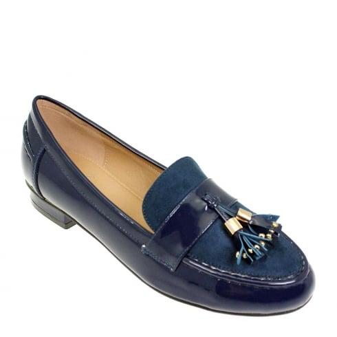 Lunar Women Verve Micro/Patent Loafer Shoe - Blue - FLC009