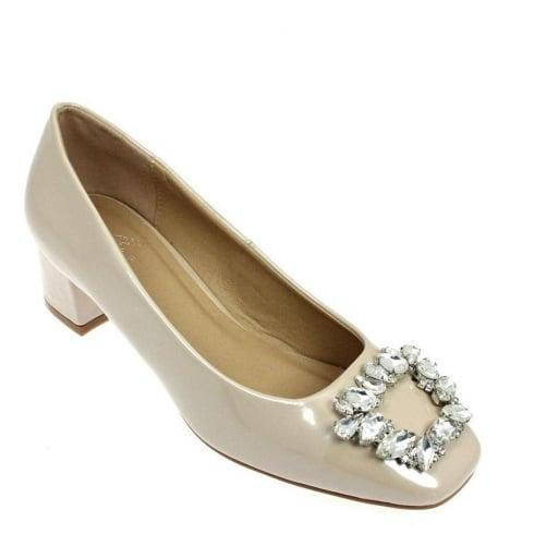 Lunar Women Saunders Ballerina Heeled Shoe - Beige - FLC037