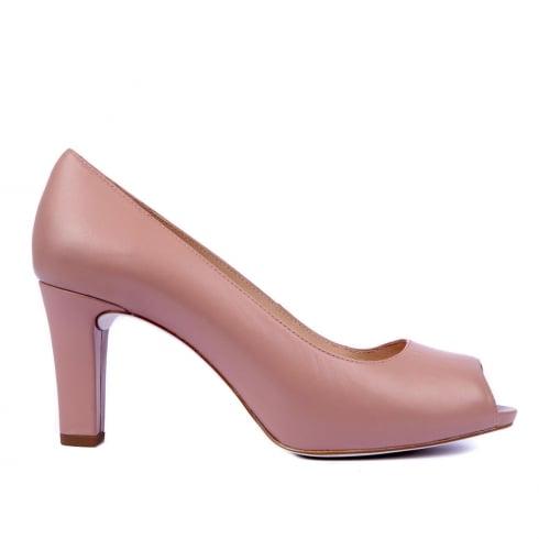 Unisa Nazo Patent Peep Toe Court - Pink