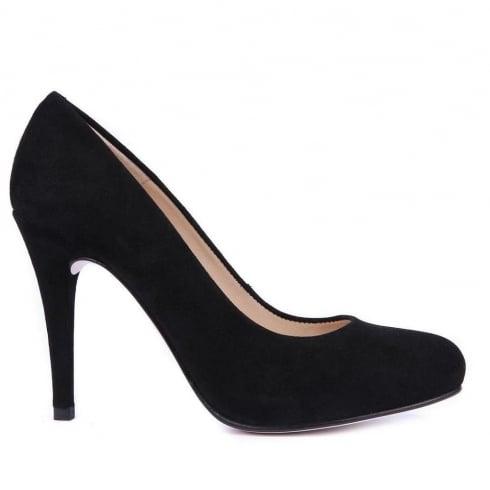 Unisa Sal High Heel Court Shoes - Black - Sal