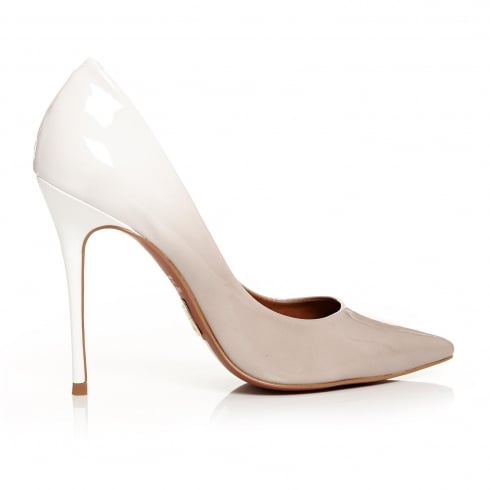 Moda In Pelle CRISTINA Light Nude Patent Ombre Court Shoe