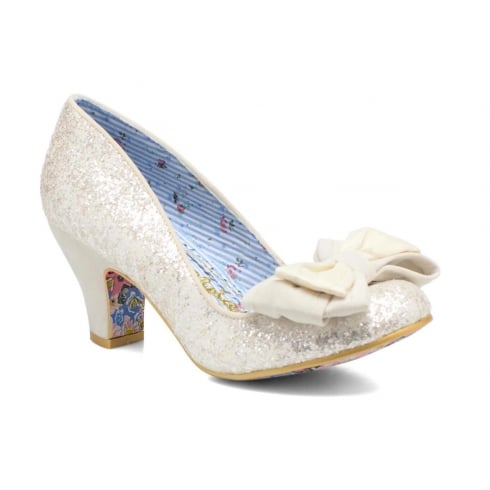 Irregular Choice Ban Joe Court Heel - White Glitter