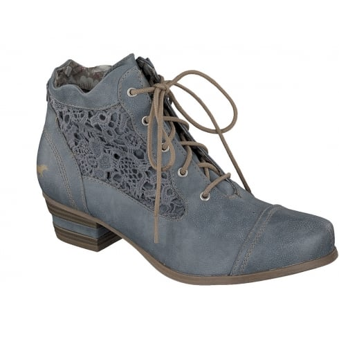 Mustang 1187-501 Ankle Boots - Blue