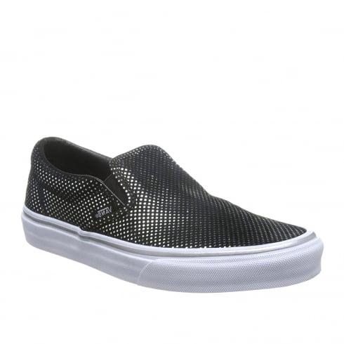Vans Women's Classic Black Metallic Slip On Sneakers - VA38F7MU6