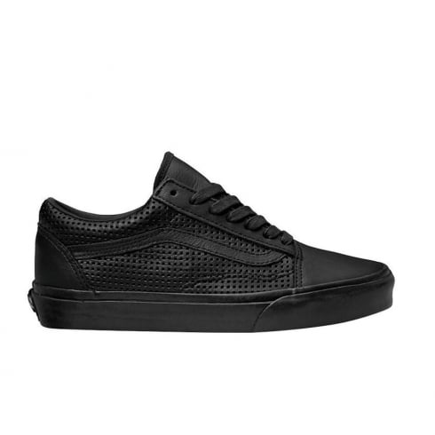 Vans Womens Old Skool DX Square Perforated Black Shoes