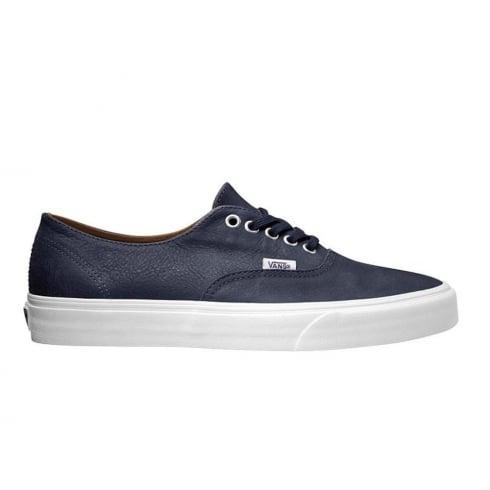 Vans Mens Premium Navy Leather Authentic Decon Vans Shoes - VA38EPMRU
