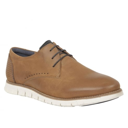 Lotus Men's Chadwick Tan Leather Lace-Up Shoes - 80024
