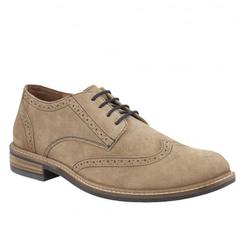 Lotus Men's Garratt Natural Suede Brogues - 80027