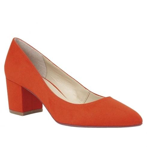 Lotus Briar Orange Microfibre Low Heel Court Shoe - 50747