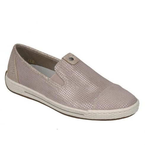 Rieker Womens Rose Slip On Sporty Flat Shoes