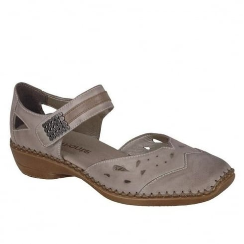 Remonte Ladies Comfortable Beige Wedge Heeled Sandals - D1627-62