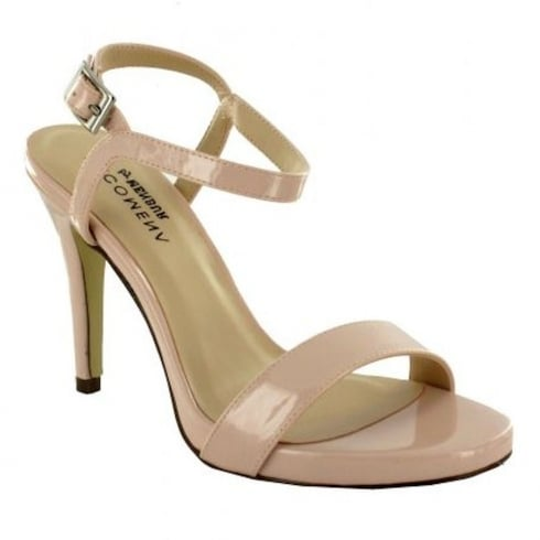 Menbur Pink Barely There Heeled Sandals