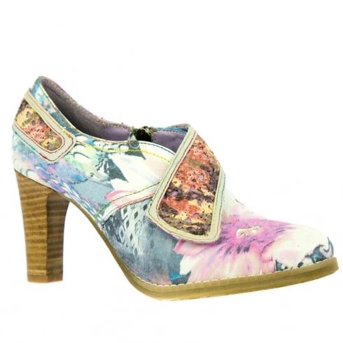 Laura Vita Blue/Multi Heeled Ankle Shoes