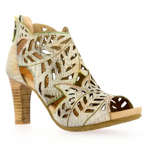 Laura Vita Beige Heeled Ankle Shoes