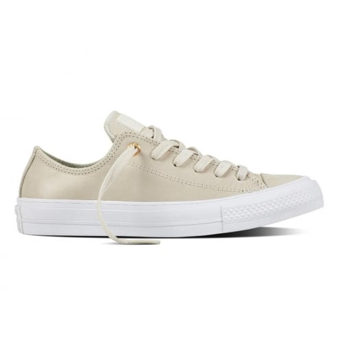 Converse Chuck II Craft Leather Laced Beige Trainers
