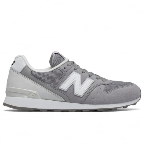 New Balance Womens Grey Leather 996 Sneakers