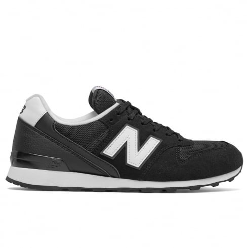 New Balance Womens 996 Black Leather Sneakers