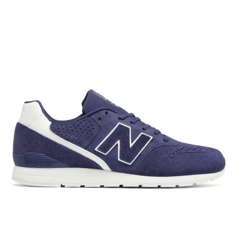 New Balance Mens Sport Style 996 Suede Navy Leather Trainers