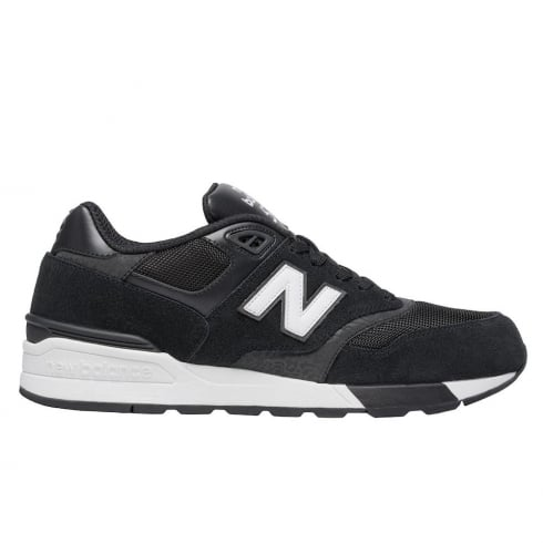New Balance Mens 597 Black Suede Mesh Sneakers