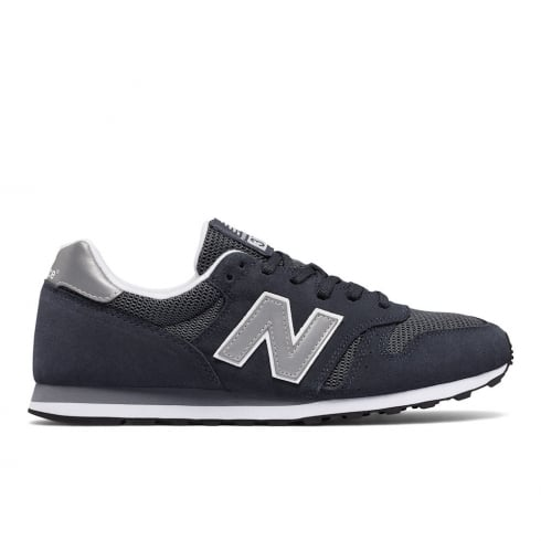New Balance Unisex 373 Navy Mesh Sneakers