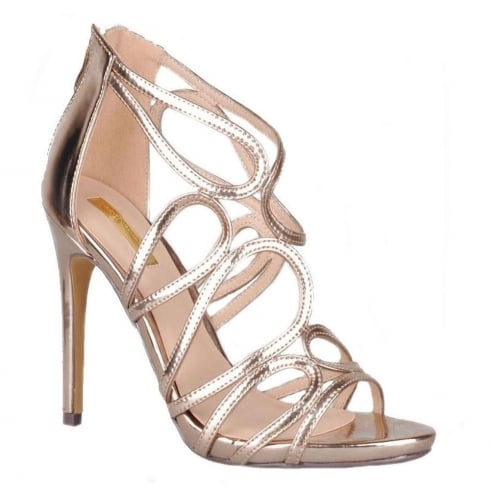 Glamour Womens Glamour High Heel Rose Gold Sandals