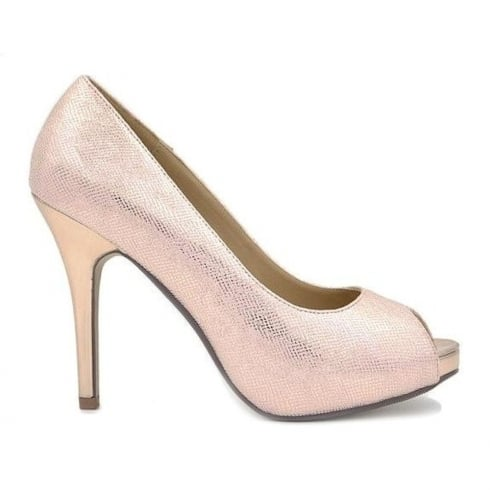 Millie & Co Peep Toe Pink Court Shoe - B19820