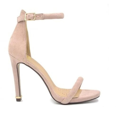 Millie & Co Suede Barely/Blush There Heeled Sandal - B18628