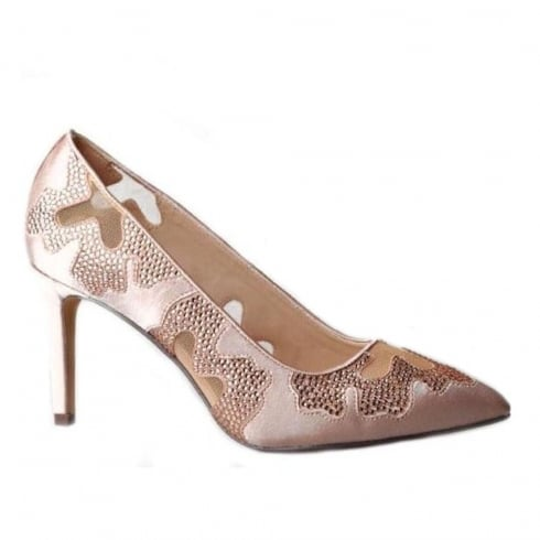 Glamour Rose Satin Poined Court Shoes
