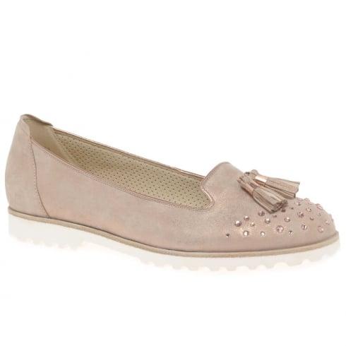 Gabor Caris Rose Gold Ladies Casual Slip On Shoes