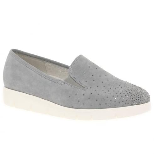Gabor Angela Womens Grey Suede Casual Shoes