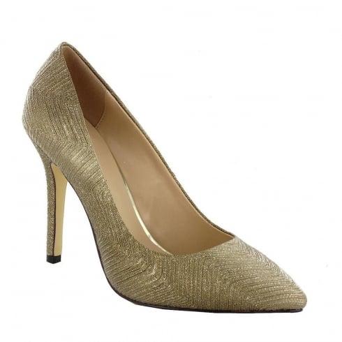 Menbur Pacomena Gold Sparkle Evening Pointed Heels