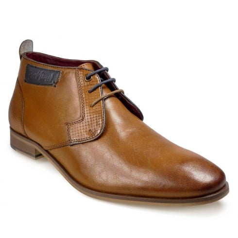 POD Mens Fresno Cognac Lace Up Boots