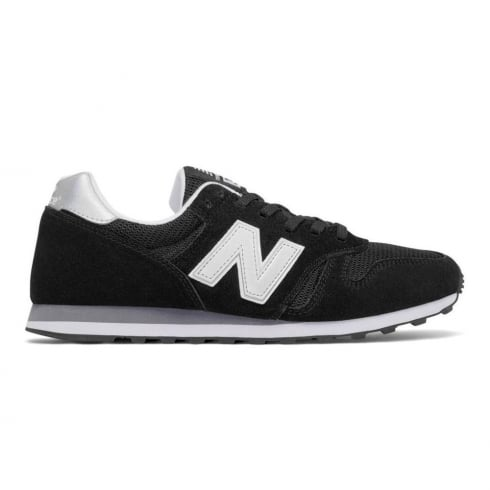 New Balance 373 Modern Classics Unisex Black Suede Trainers