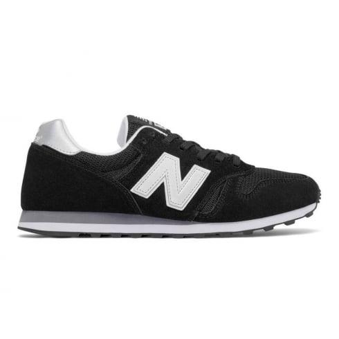 New Balance 373 Modern Classics Black Suede Trainers