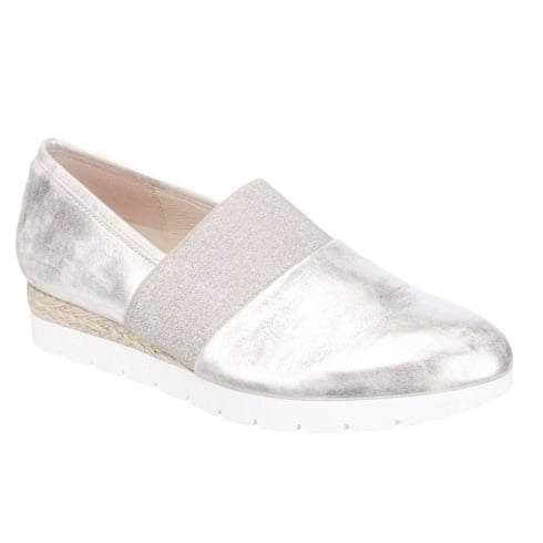 Gabor Womens Silver Metallic Summer Slippers - 62.413