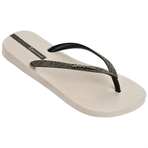 Ipanema Sparkle Beige/Bronze Womens Flip Flops