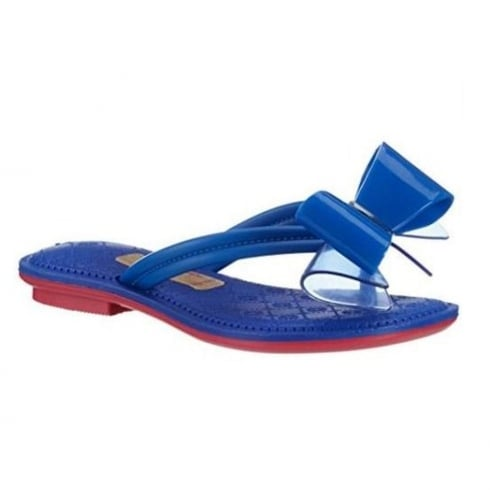 Grendha Sense Thong Navy Bow Flip Flops Sandals