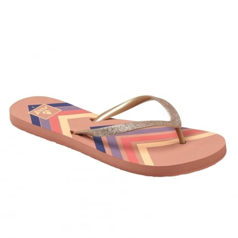 Reef Womens Stargazer Prints Dusty Pink Chevron Flip Flops Sandals