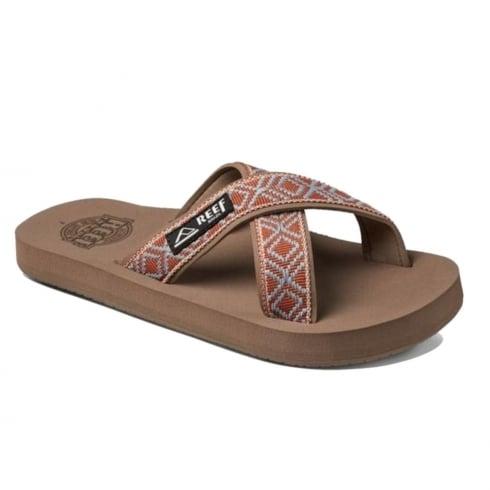 Reef Womens Crossover Mocha Flip Flops Sandals